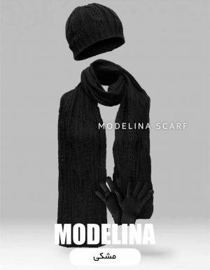 ست شال گردن،کلاه و دستکش اصل مشکی