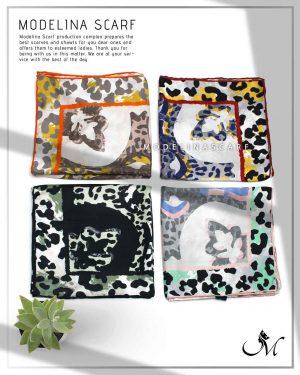 خرید روسری نخی leopard مدلینا 1059