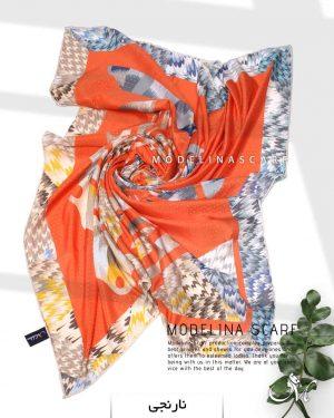 روسری نخی مدلینا 1104 نارنجی