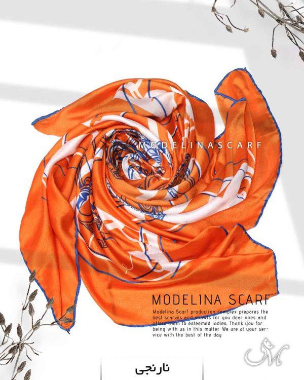 روسری نخی مدلینا 1112 نارنجی