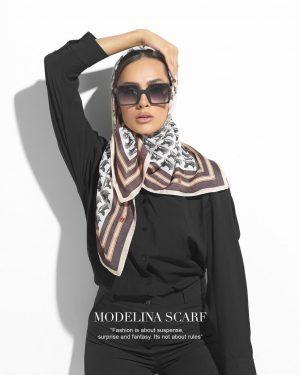 روسری قواره کوچک ژاکارد ابریشم M16