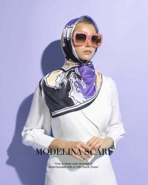 روسری قواره کوچک ژاکارد ابریشم