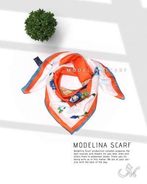 خرید روسری قواره کوچک ژاکارد ابریشم M17
