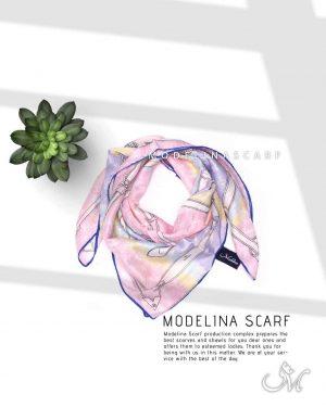 خرید روسری قواره کوچک ژاکارد ابریشم M15