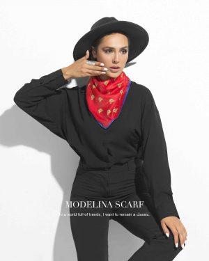 روسری قواره کوچک ژاکارد M11