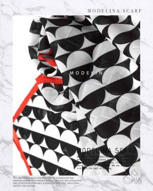 روسری قواره کوچک ژاکارد M13 تابستانه