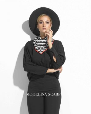 روسری قواره کوچک ژاکارد M13