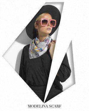 روسری قواره کوچیک ژاکارد M19