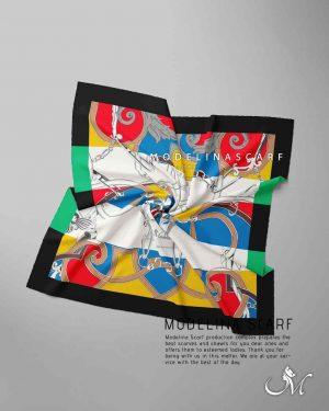 خرید روسری قواره کوچیک ژاکارد M22