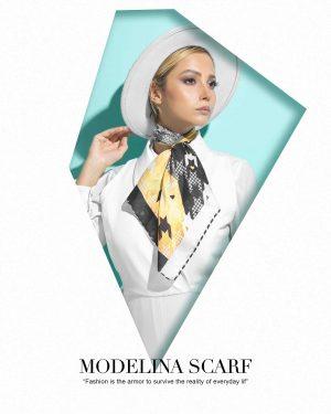 روسری قواره کوچک ژاکارد M5